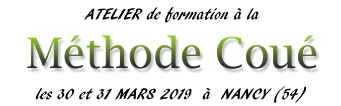 atelier de formation à la méthode Coué les 30 et 31 mars 2019